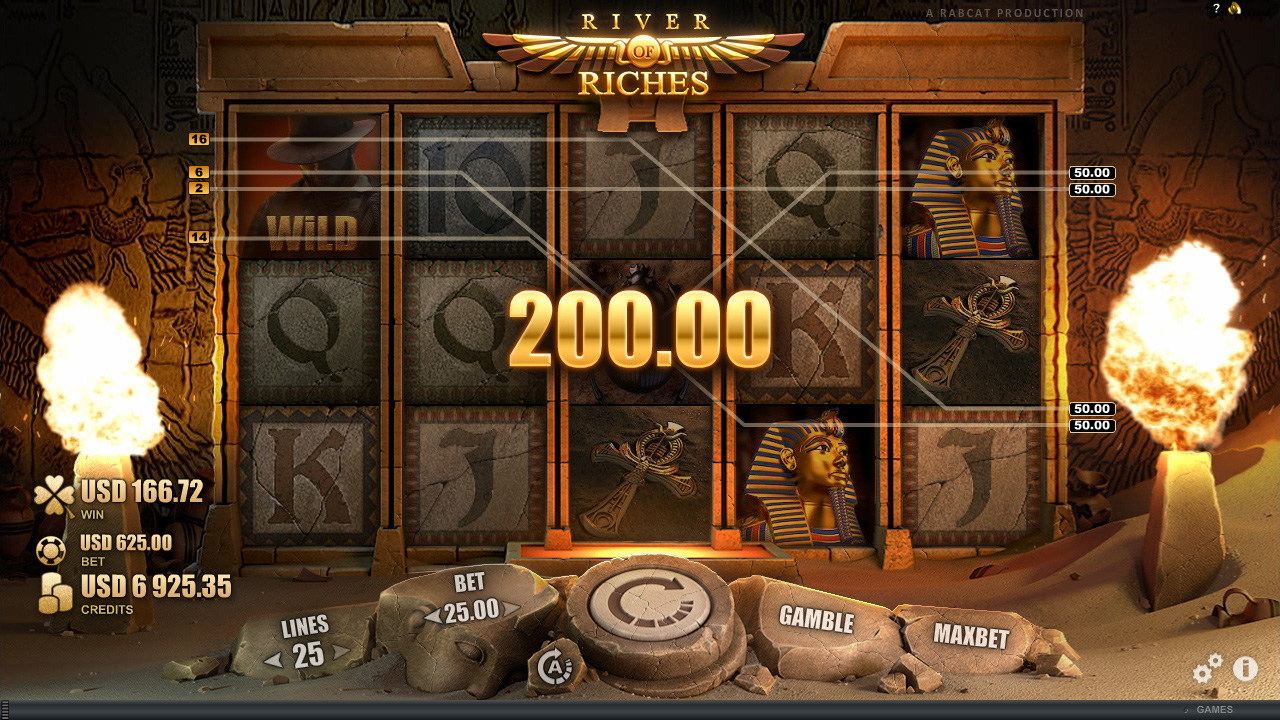 River of Riches™ video slot base game screenshot