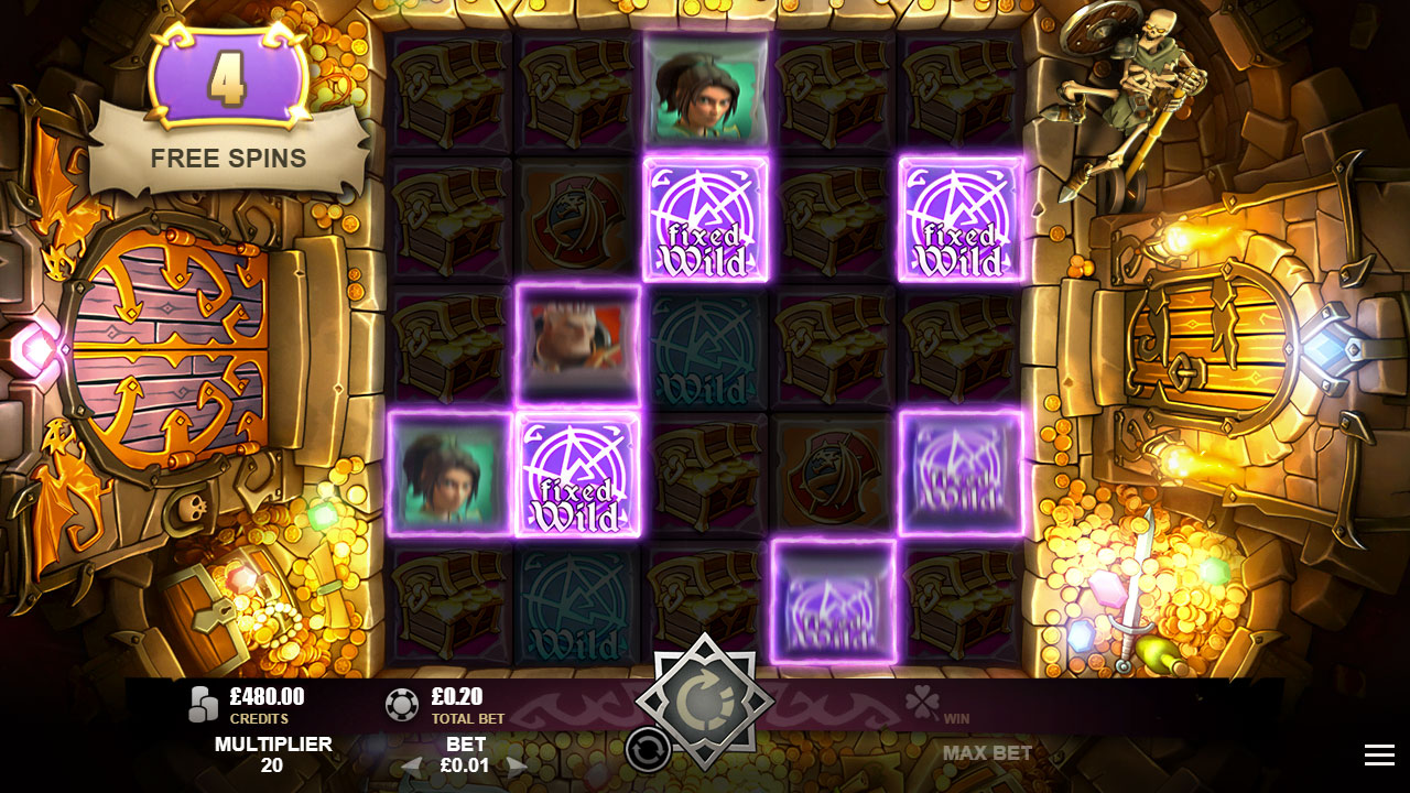 TREASURE HEROES™ video slot Free Spins Feature screenshot
